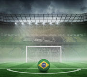Football in brasil colours Stock Photos