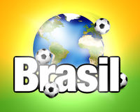 Football Brasil planet earth Royalty Free Stock Photos