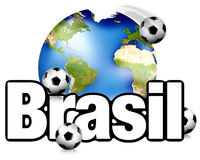 Football Brasil planet earth modern look Stock Images