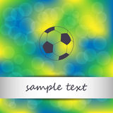 Football Brazil background Stock Images