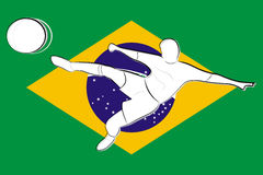 Football brazil background Stock Photos