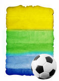 Football and the brazil flag's colours Royalty Free Stock Photography