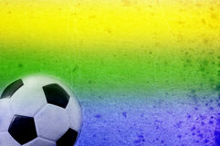 Football and the brazil flag's colours Royalty Free Stock Photos