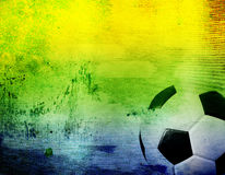 Football and the brazil flag's colours Stock Photography