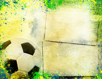 Football and the brazil flag's colours Royalty Free Stock Image