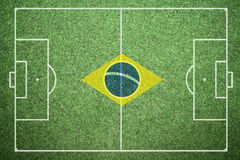 Football - Brazil Royalty Free Stock Images