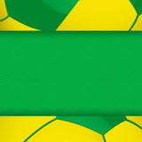 Football brazil panel background Royalty Free Stock Photography