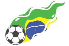 Football brazil shooting Royalty Free Stock Photo