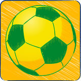 Football brazil sketch background Royalty Free Stock Photography
