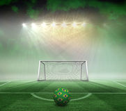 Football in brazilian colours Stock Photos