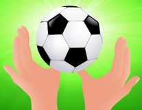 Football bright background Royalty Free Stock Images