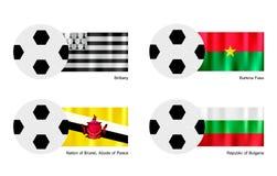 Football with Brittany, Burkina Faso, Brunei and B Stock Photos
