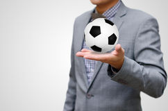 Football business concept Stock Images