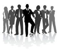 Football business team stock illustration