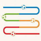 Football button s bend slider Stock Image