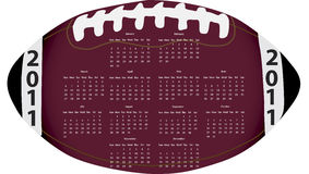 Football Calendar Stock Photography