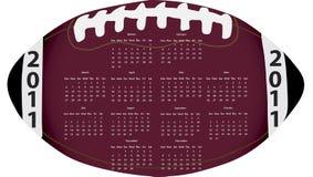 Football Calendar. 2011 Calendar in the shape of a football Stock Photography