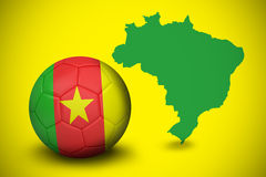 Football in cameroon colours Stock Photo