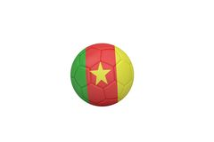 Football in cameroon colours Stock Images