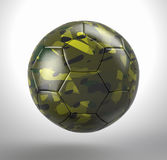 Football camouflage. 3d render of football in camouflage material stock illustration
