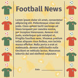 Football card for advertising or news Royalty Free Stock Images