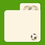 Football card background Stock Photos