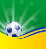 Football card in Brazil flag colors. Illustration football card in Brazil flag colors - vector Stock Photography