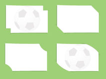 Football cards in the pockets. Football cards for entries in the pockets Royalty Free Stock Photo