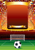 Football Celebration. Football Background for Your Text Royalty Free Stock Images