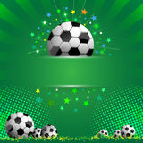 Football celebration concept banner background Stock Photos