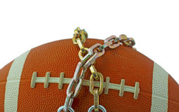 Football in chains Royalty Free Stock Images