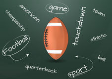 Football chalkboard Royalty Free Stock Photos