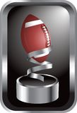 Football champion. Silver trophy with a football on top Royalty Free Stock Photos