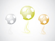 Football champion cup. Gold, silver, bronze cup Royalty Free Stock Photos