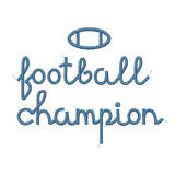 Football Champion Decoration. Vector Quality Photo Realistic Embroidered Football Champion Decoration Isolated On White. Print For Clothing Stock Photos