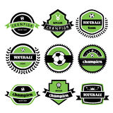Football champion  labels Stock Images