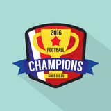 2016 Football Champions Badge. 2016 Football Champions Badge Vector Illustration stock illustration