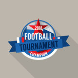 2018 Football Champions Badge Vector Stock Photography