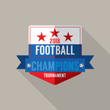 2018 Football Champions Badge Vector Stock Image