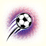 Football championship background with ball and france flag colors ground. Roughness texture. France football championship with ball and france flag colors Royalty Free Stock Images