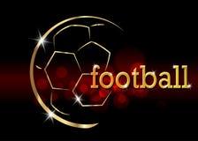 Football championship banner. Vector illustration of abstract golden soccer ball for your design.  vector illustration