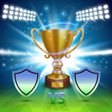 Football championship cover, Sport Cup background, Vector ilustration Royalty Free Stock Image