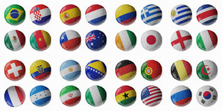 Football Championship 2014. Football/soccer balls. Stock Photography