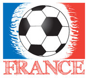 Football championship in France. Vector football background for european championship, with country name  France with ball and abstract french flag Royalty Free Stock Images