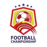 Football championship logo vector. Football championship logo. soccer label vector illustration Royalty Free Stock Photography