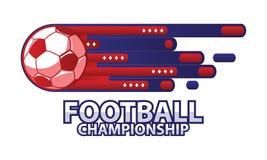 Football championship logo vector illustration. Football championship logo. soccer label vector illustration Stock Image