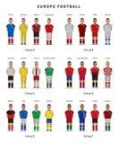 Football championship. National team players uniform. Soccer. Stock Photo