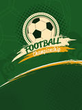 Football championship poster. Sport background in retro style royalty free illustration
