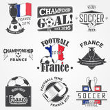 Football Championship set. Soccer time. Detailed elements.  Royalty Free Stock Photo