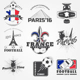 Football Championship set. Soccer time. Detailed elements. Royalty Free Stock Images
